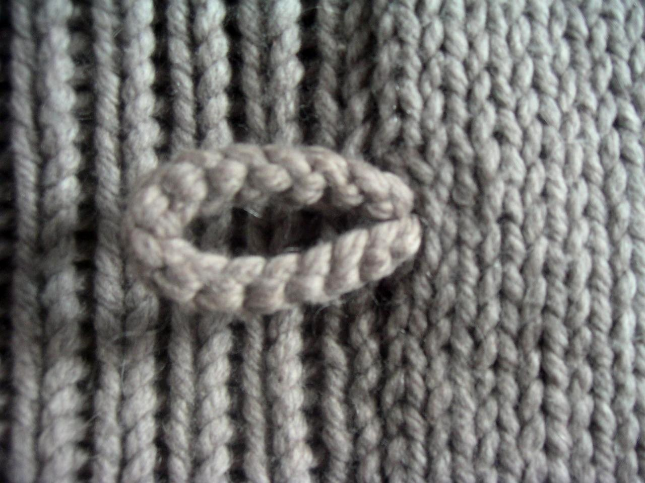 Knit Scarf Pattern With Button Hole : Toggles   an easy alternative to button holes.   Knitting Board Blog