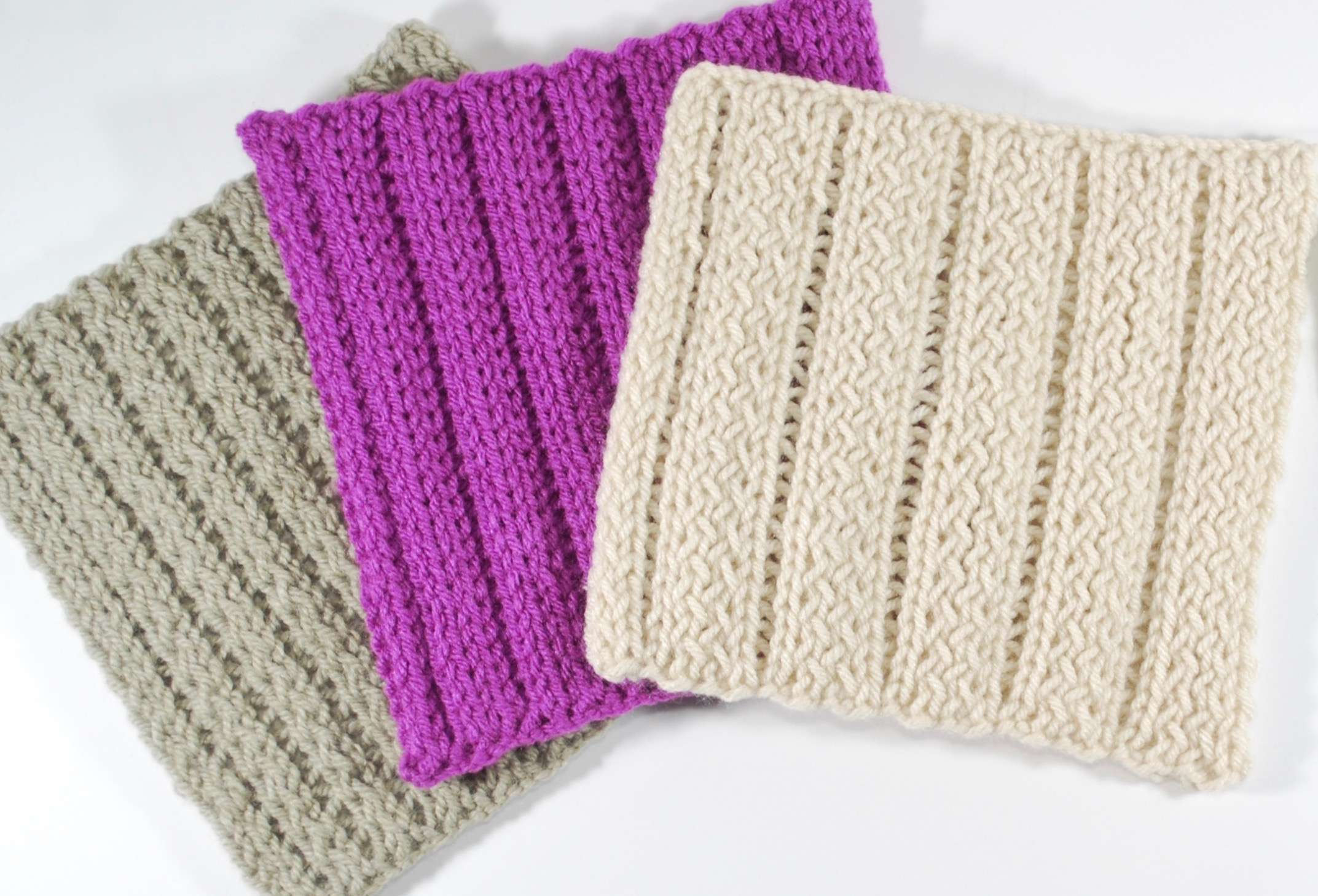Twisted Pearl Stitch (double knit)   Knitting Board Blog