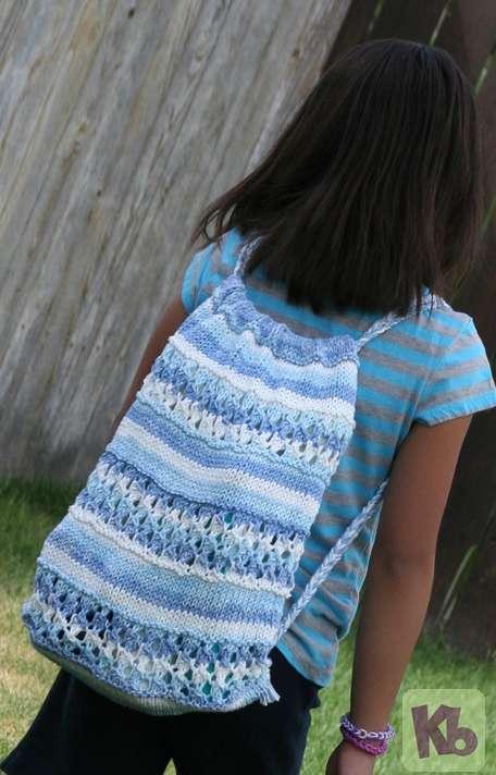 Beach Drawstring Backpack   Knitting Board Blog