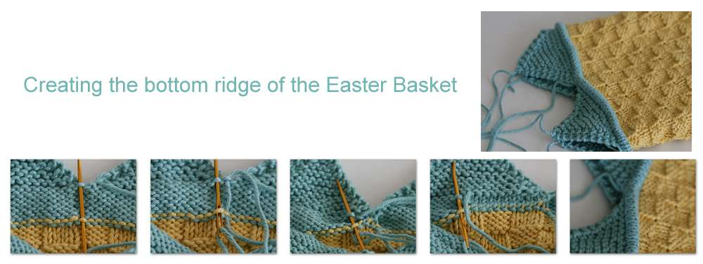 Creating bottom ridge of easter basket 2