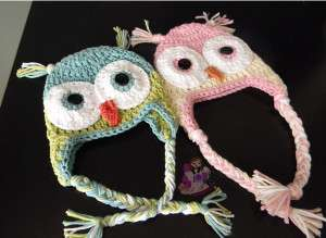 Owl Hats crochet