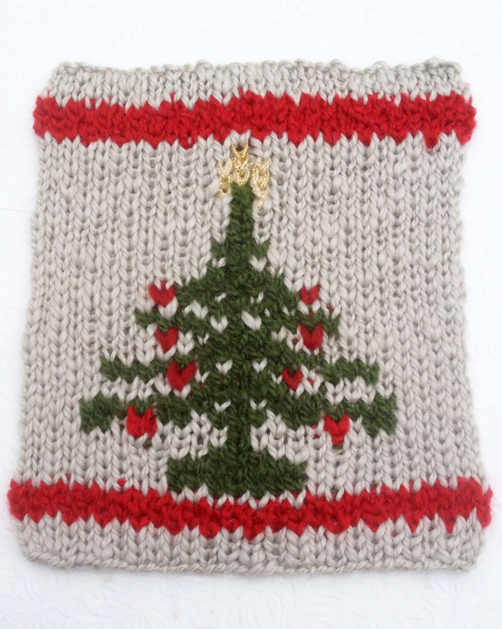Christmas Tree Square in Double Knit! « KB Looms Blog