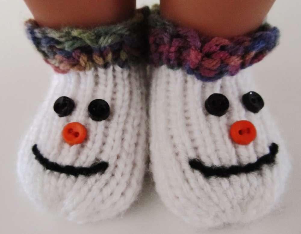 Snowman Slipper Socks For 18 Dolls Kb Looms Blog