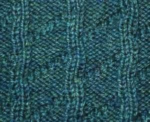 Back side of Barber Pole Stitch~