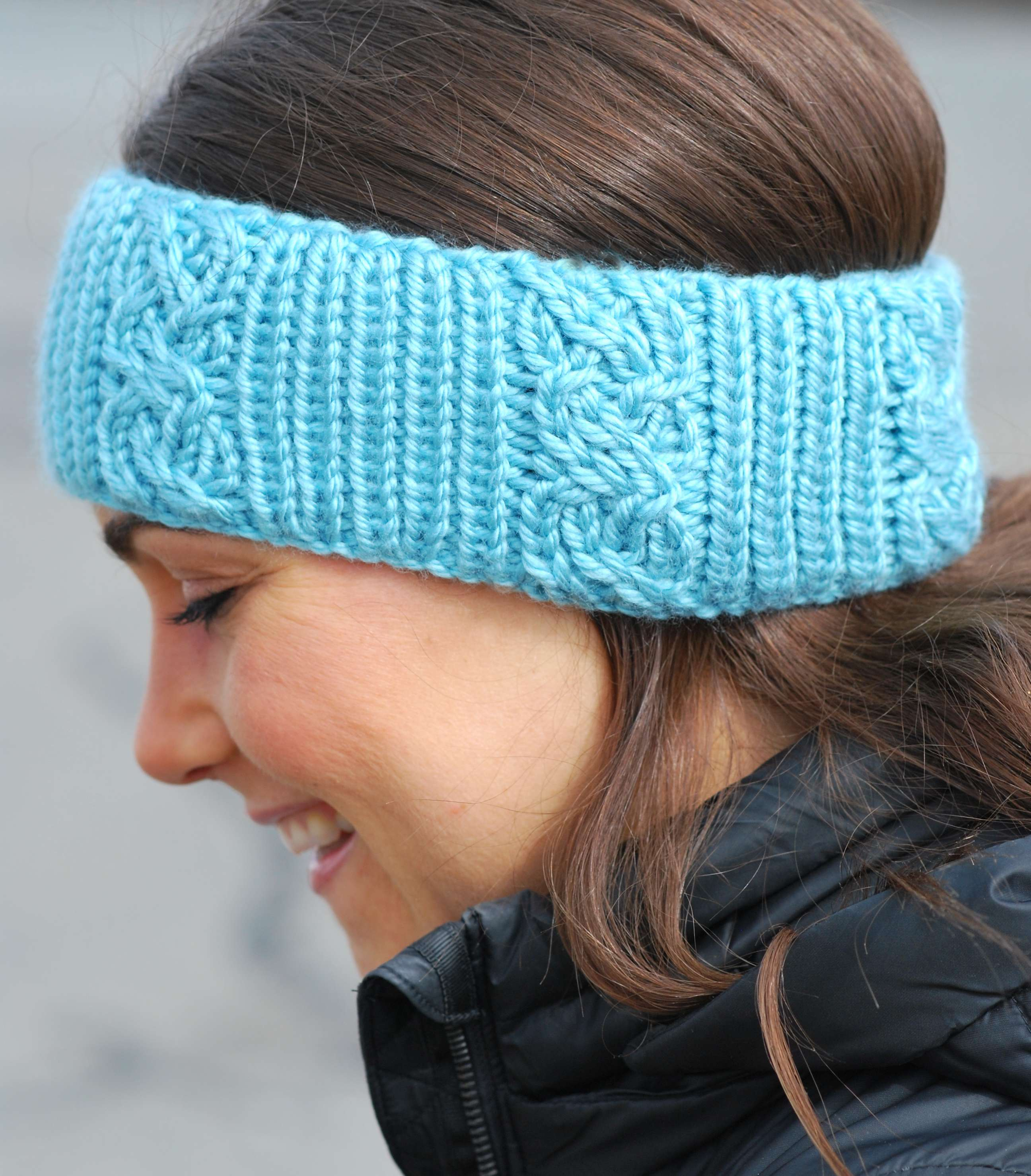 Cable Stitch & Headband (double knit in the round)