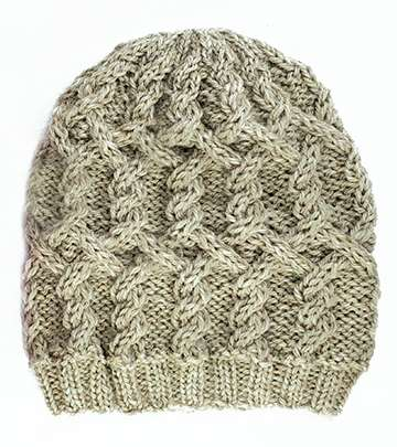 Crazy For Cables Beanie (Flexee Loom)