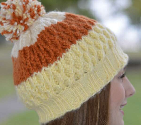 Autumn Candy Corn Hat (double knit)