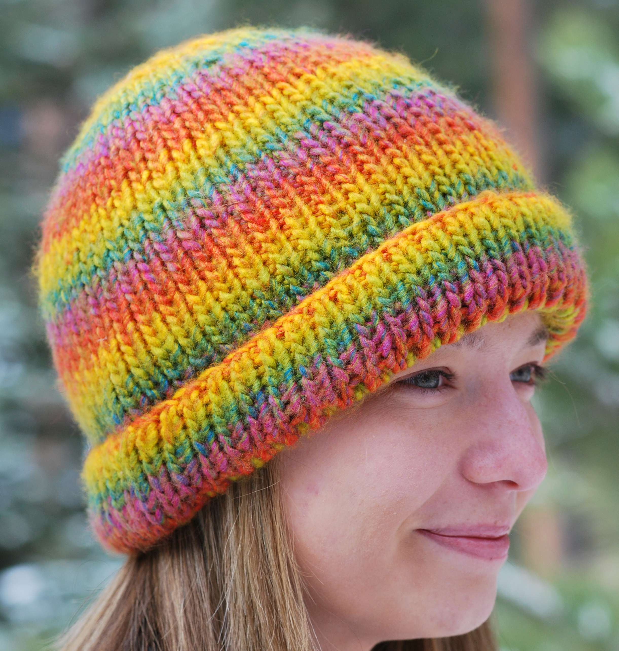 'Perfect Fit' Hat on Double Knit Loom