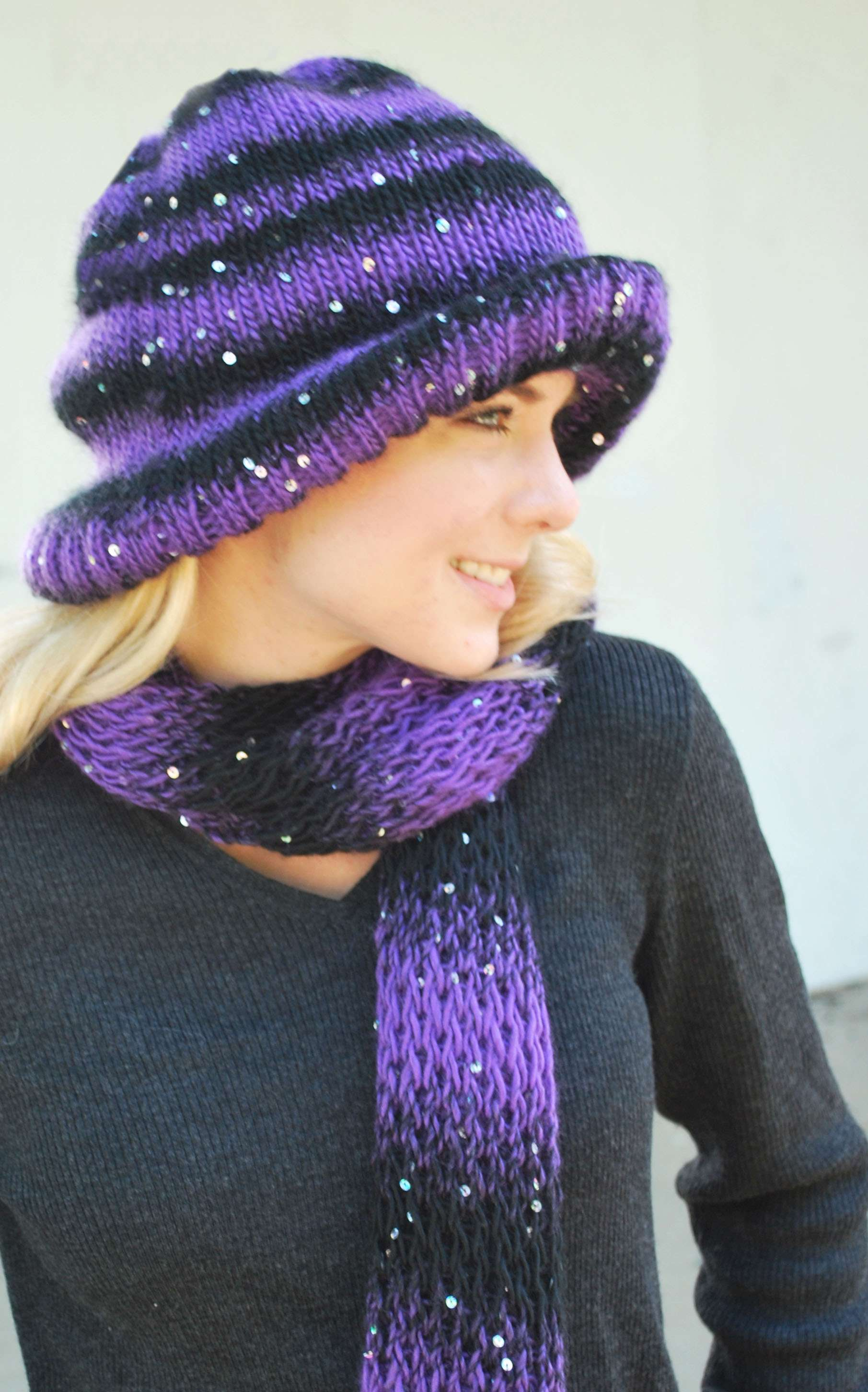 Downtowner Hat & Scarf Set « KB Looms Blog