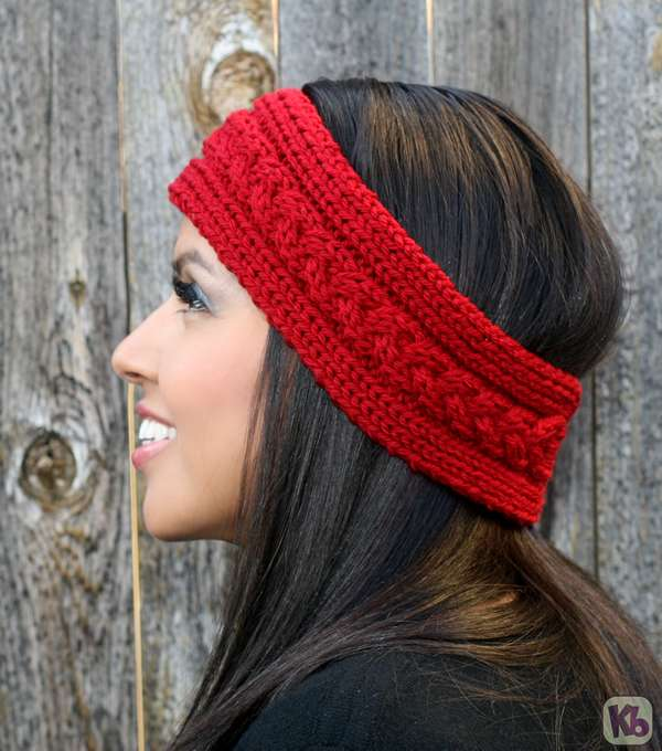 Knitting Patterns For Ear Warmers With Flower : Aislin Earwarmer   Knitting Board Blog