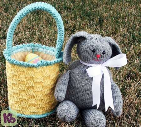 Easter Basket Loom Knitted Small