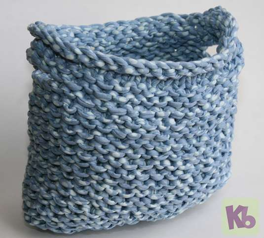 Loom Knitting Patterns : Loom Knitted Basket   Knitting Board Blog