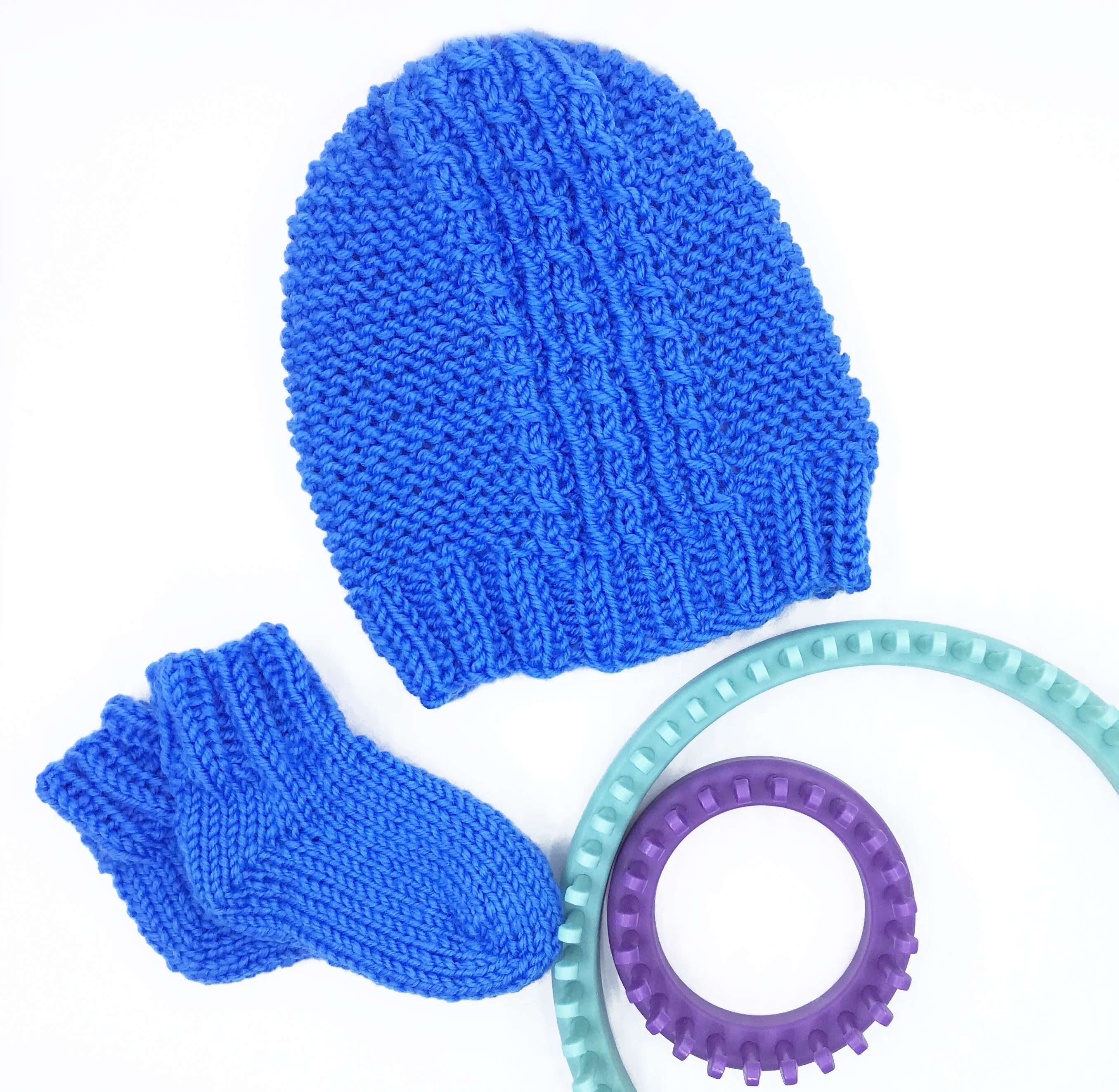 Twists & Ribs Baby Hat and Booties
