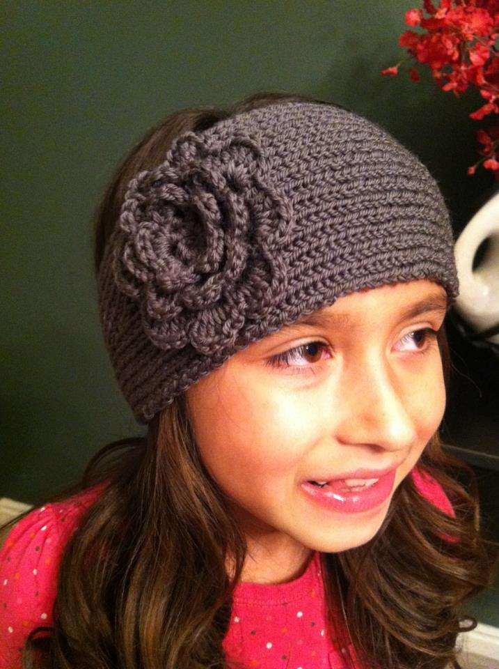 Knitting Pattern For A Headband With Flower : Loom Knit Headband Pattern   Knitting Board Blog