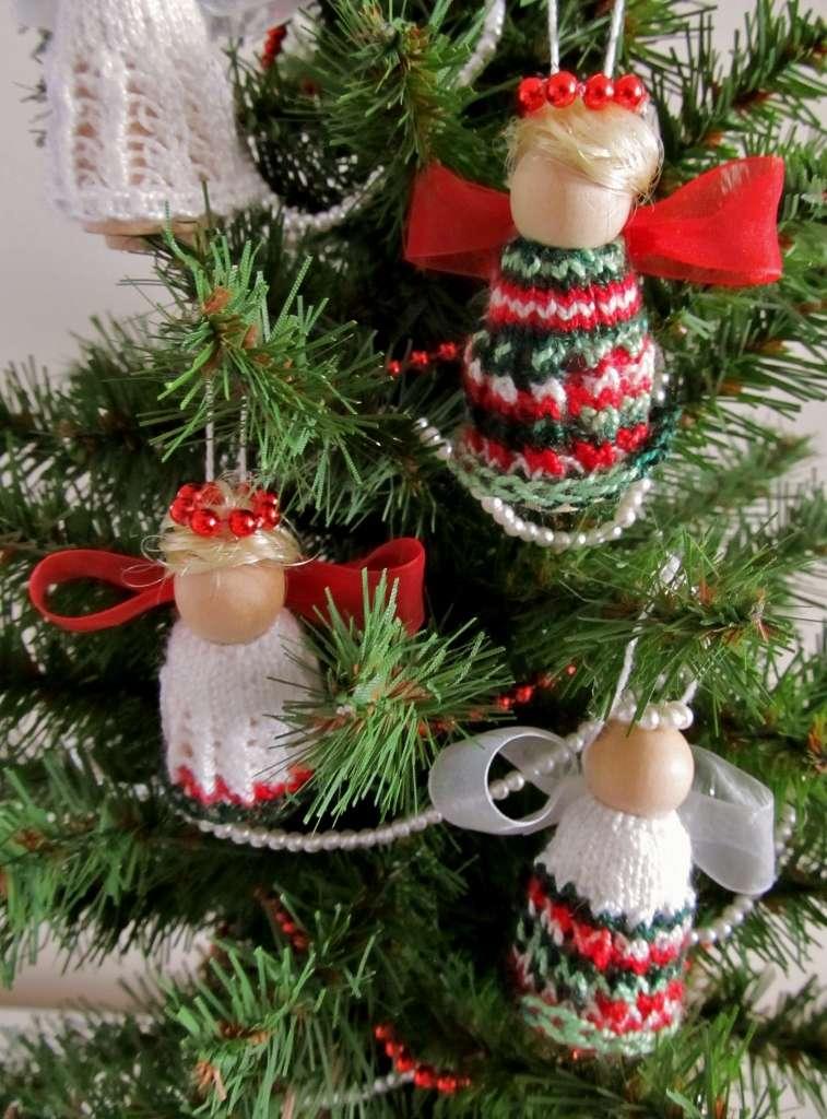 Whimsical Loom Knits – Doll Pin Angel Ornaments