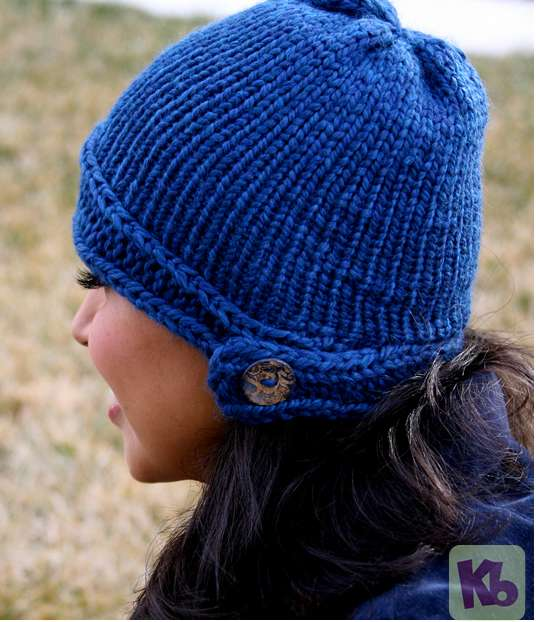 Loom Knitted Cloche Side 600