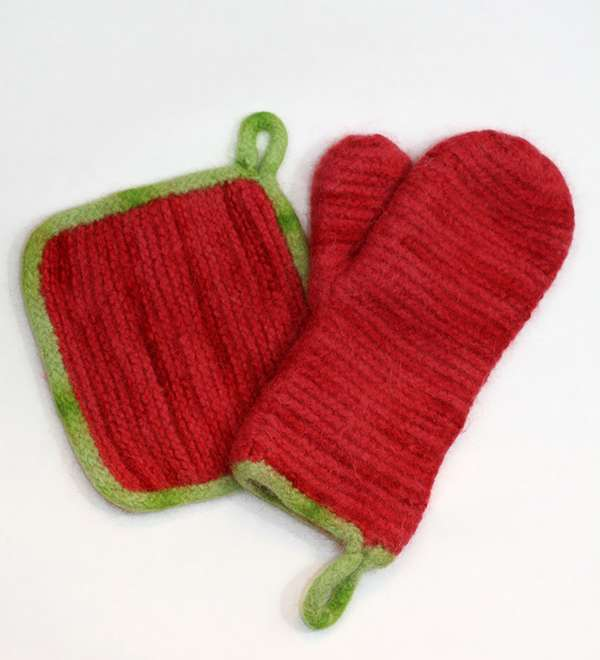 Oven Mitt & Hot pad Set