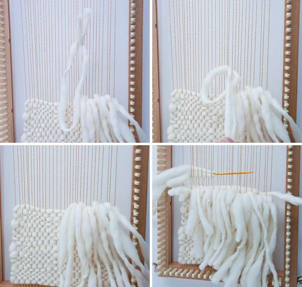 Rya Knot Weave on a Knitting Loom!
