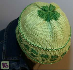 Shamrock Beanie Top view