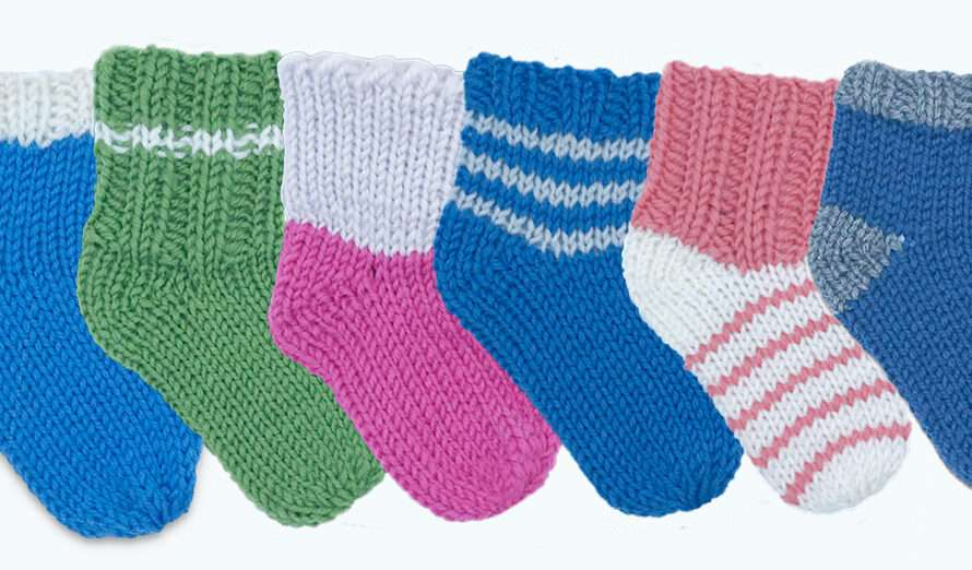 Odds & Ends Baby Bootie Socks