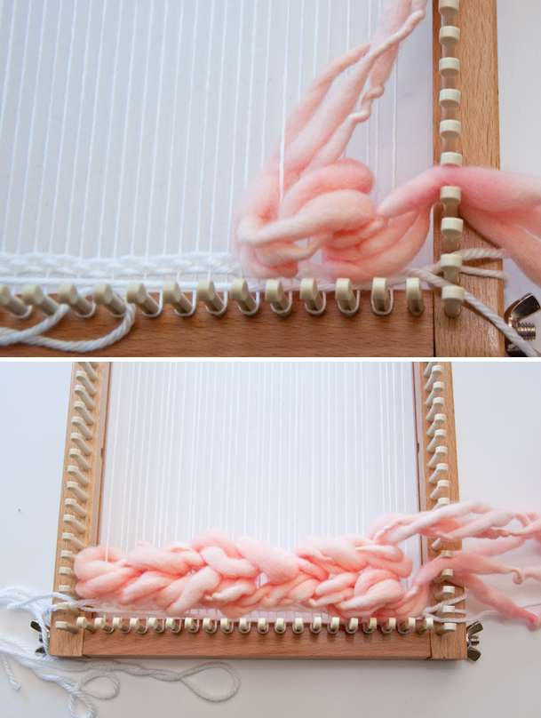 Soumak Weave on a Knitting Loom!
