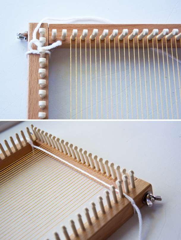 Tapestry Weave on a Knitting Loom! Part 1