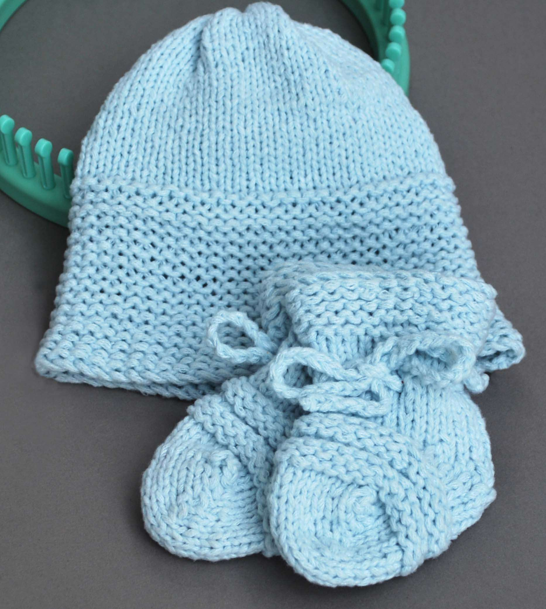 Baby Sky Hat and Booties