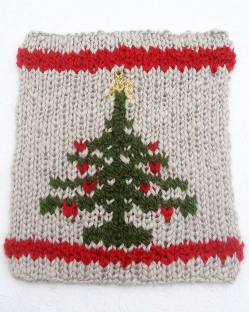 Free Christmas Intarsia Knitting Patterns: Miniature sweater ...