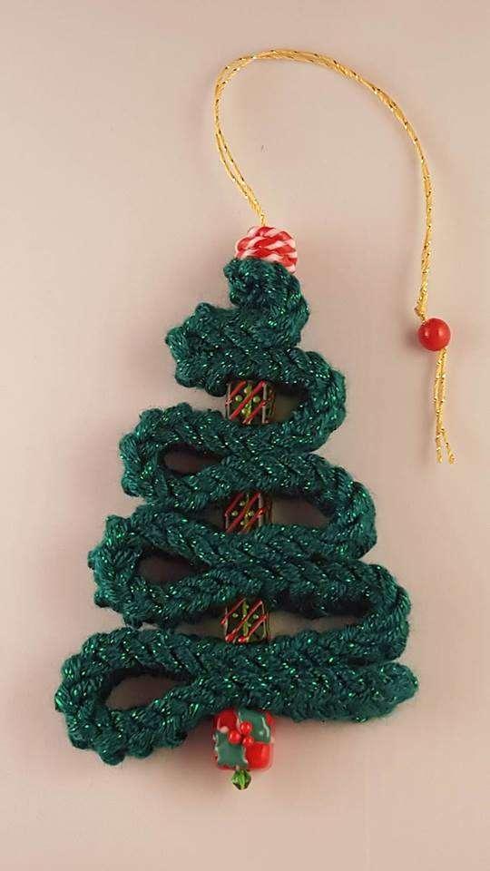 Christmas Bead Tree Ornament