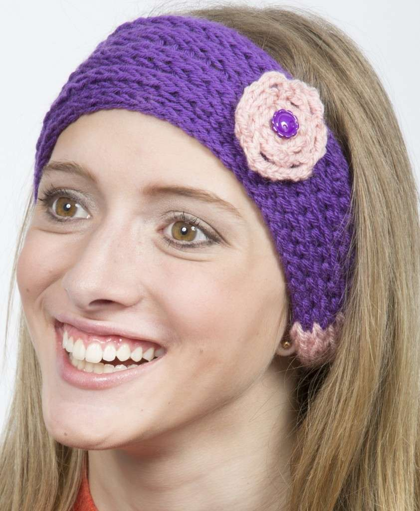 Knit Headband Pattern In The Round : Summer Rose Headband   Knitting Board Blog