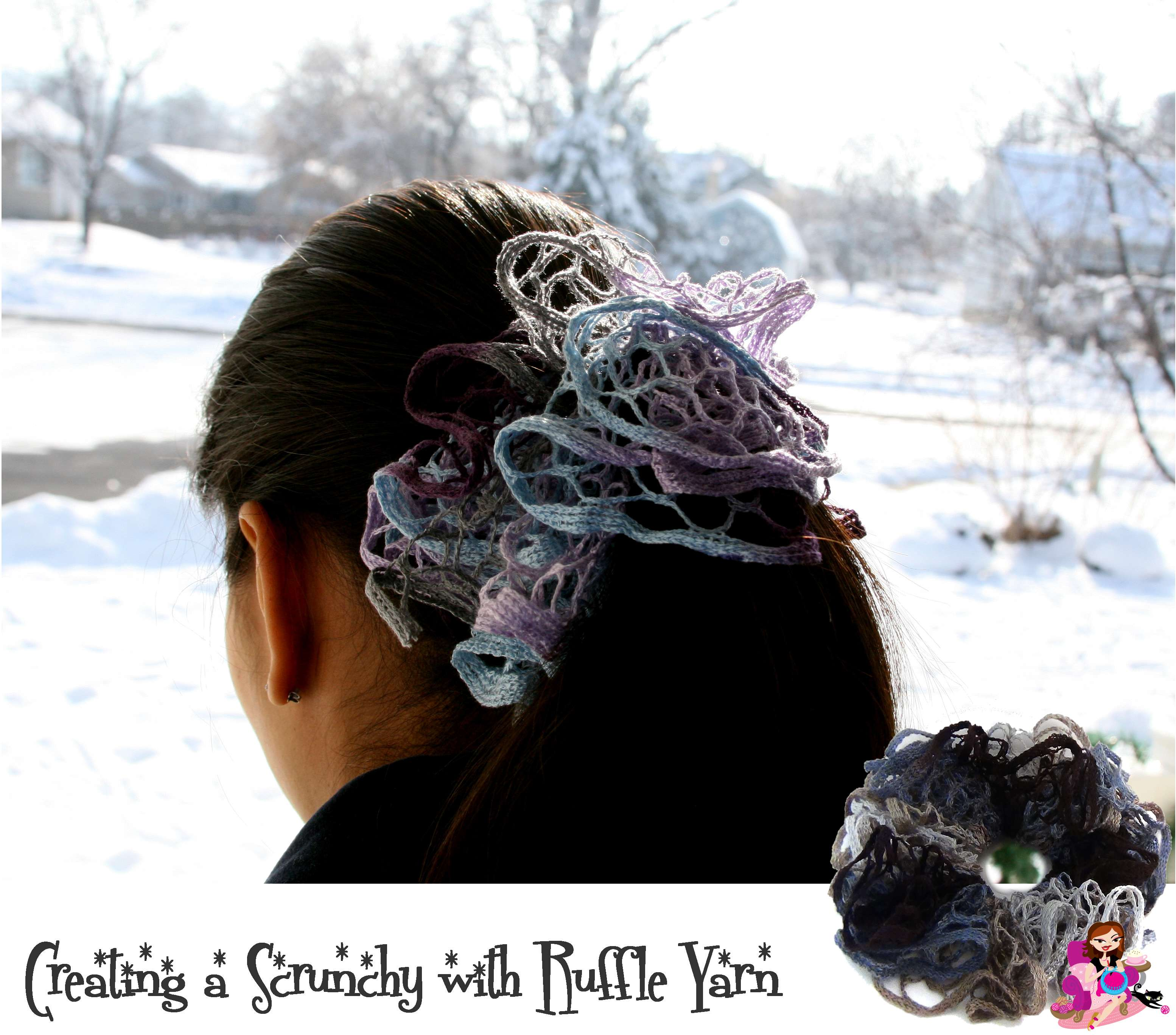 Creating Hair Scrunchies with Left Over Ruffle Yarn