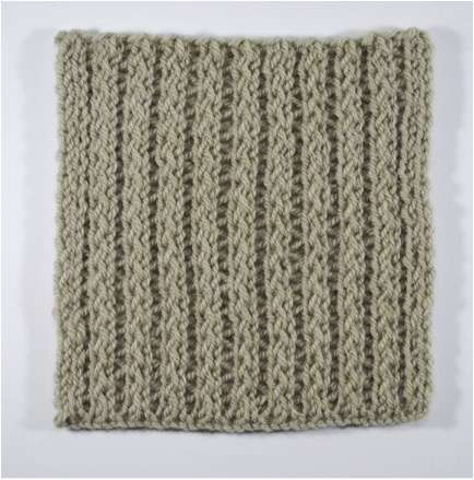 Twisted Pearl Stitch (double knit)
