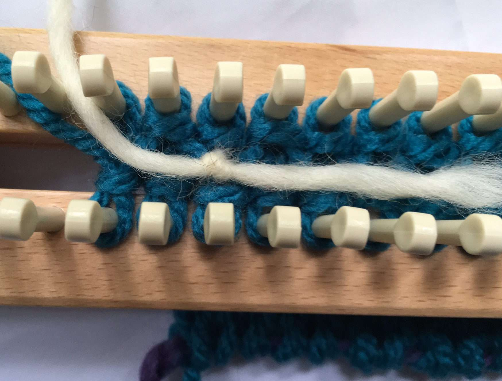 tie and lay yarn down